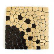 Dekor rustykalny beżowo-czarny